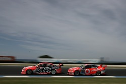 Mark Skaife (Holden Racing Team Commodore VE), Craig Lowndes (TeamVodafone Ford Falcons BF)