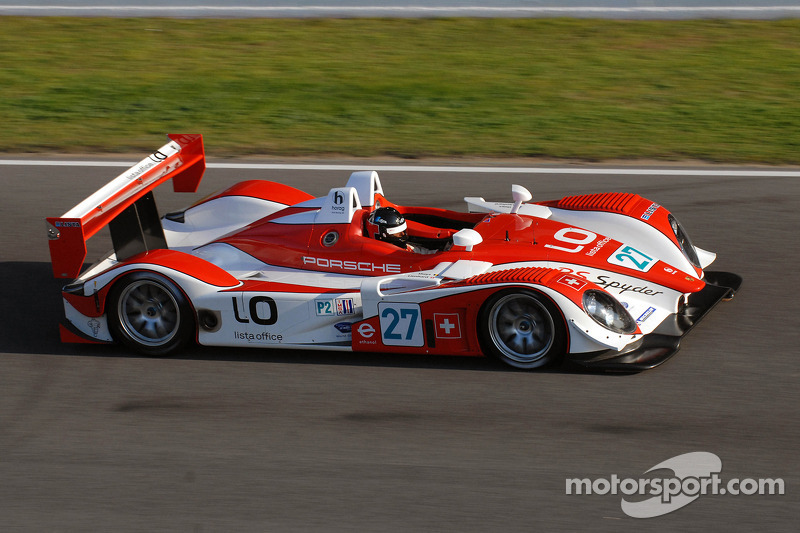 Didier Theys at speed in Horag Racing's brand-new Porsche RS Spyder