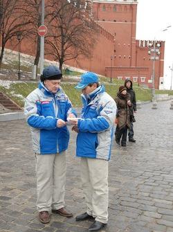 Kamaz-Master ceremonial start on the Red Square in Moscow: Semen Yakubov and Firdaus Kabirov