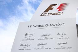 Campeones del Mundo de F1 logo