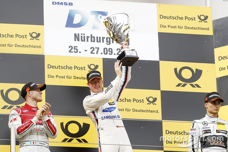 Podium: winner Maxime Martin, BMW Team RMG, second place Edoardo Mortara, Audi Sport Team Abt, third place Pascal Wehrlein, HWA AG Mercedes-AMG