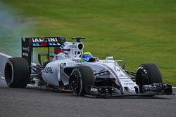 Felipe Massa, Williams FW37 con una foratura all'inizio della gara
