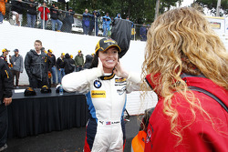 GS ganador de la carrera # 46 Fall-Line Motorsports BMW M3: Ashley Freiberg