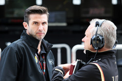 (L to R): Matthew Carter, Lotus F1 Team CEO with Paul Seaby, Lotus F1 Team, Team Manager