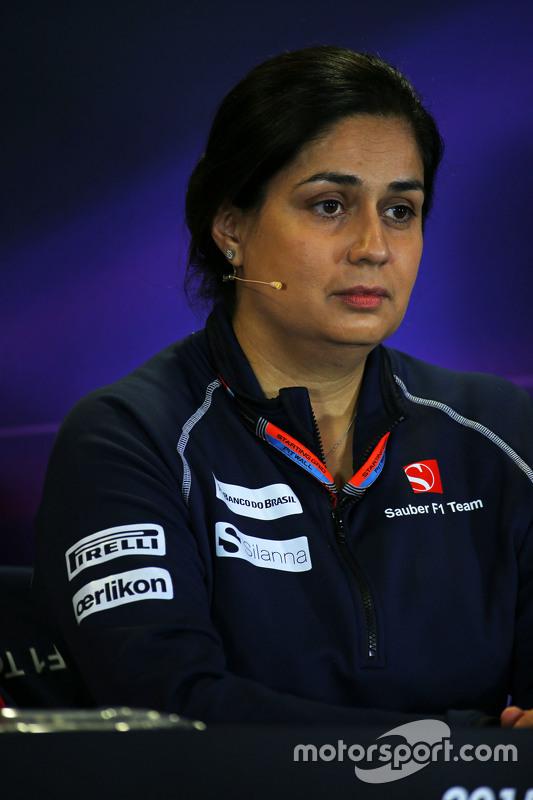 Моніша Калтенборн, Керівник команди Sauber на пресс-конференції FIA