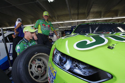 Crews work on Ricky Stenhouse Jr.'s Roush Fenway Racing Ford