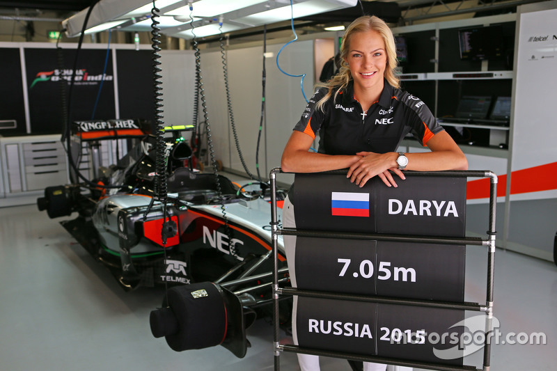 Darya Klishina, Long Jump Athlete with the Sahara Force India F1 Team team
