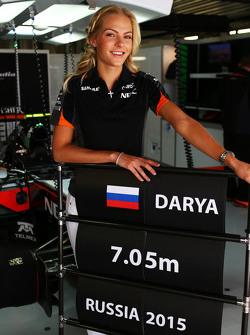 Darya Klishina, Long Jump Athlete with the Sahara Force India F1 Team