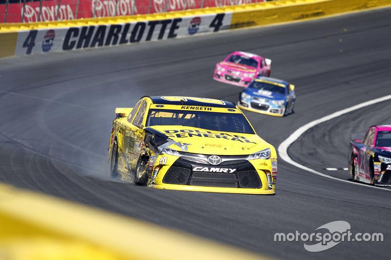 Метт Кенсет, Joe Gibbs Racing Toyota crashes