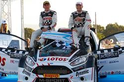 I vincitori Kajetan Kajetanowicz e Jaroslav Baran, Ford Fiesta R6