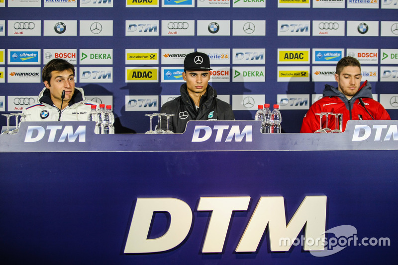 Press Conference, Pascal Wehrlein, HWA AG Mercedes-AMG C63 DTM; Bruno Spengler, BMW Team MTEK BMW M4 DTM and Edoardo Mortara, Audi Sport Team Abt Audi RS 5 DTM