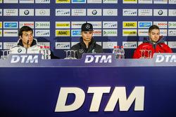 Press Conference, Pascal Wehrlein, HWA AG Mercedes-AMG C63 DTM; Bruno Spengler, BMW Team MTEK BMW M4 DTM and Edoardo Mortara, Audi Sport Team Abt Audi RS 5 DTM