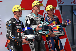 John McPhee, Saxoprint RTG, Danny Kent, Leopard Racing y Miguel Oliveira, Red Bull KTM Ajo
