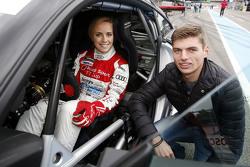 Mikaela Ahlin-Kottulinsky met vriend Max Verstappen, Formule 1-coureur bij Toro Rosso