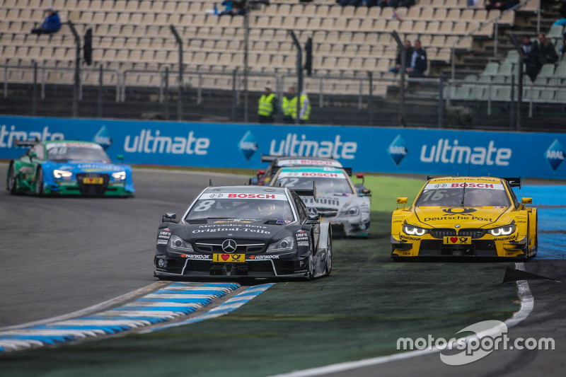 Christian Vietoris , HWA AG Mercedes-AMG C63 DTM  and Timo Glock , BMW Team MTEK BMW M3 DTM