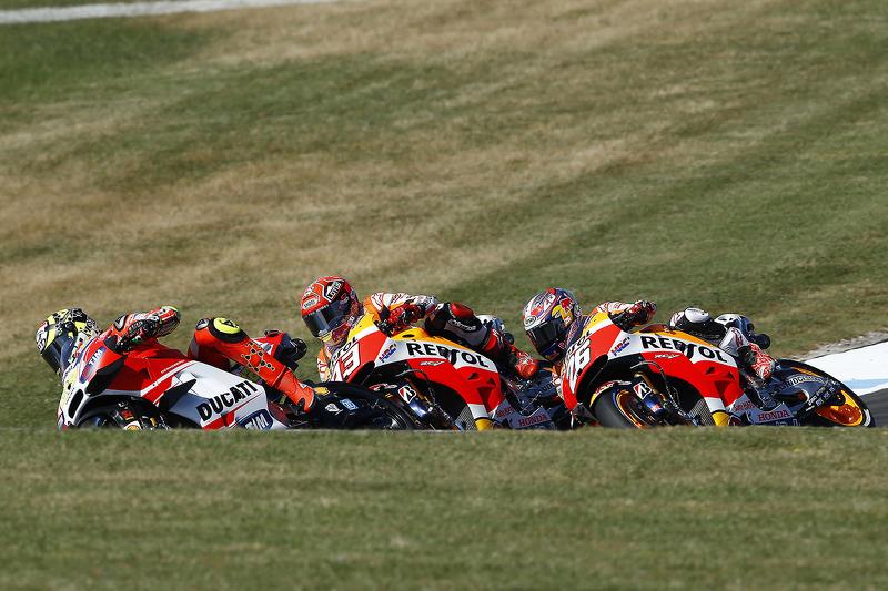 Andrea Iannone, Ducati Team, Marc Márquez, Repsol Honda Team, Dani Pedrosa, Repsol Honda Team