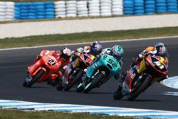 Brad Binder, Red Bull KTM Ajo, Danny Kent, Leopard Racing y Karel Hanika, Red Bull KTM Ajo