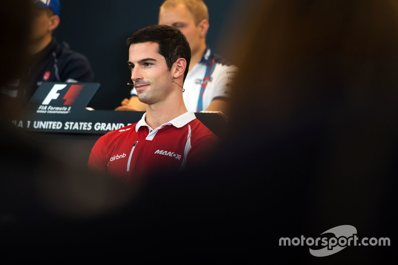 Alexander Rossi, Manor F1 Team in the FIA Press Conference