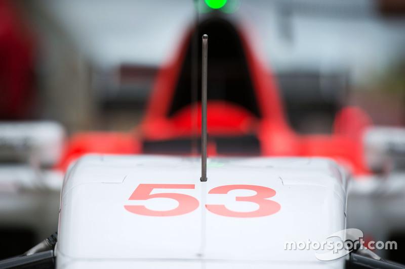 Manor F1 Team car of Alexander Rossi, Manor F1 Team
