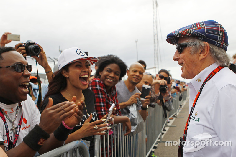 Jackie Stewart, with fans