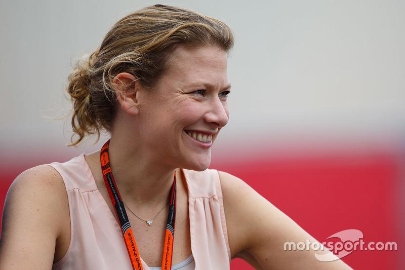 Jennie Gow, BBC Radio 5 Live Pitlane Reporter at United States GP