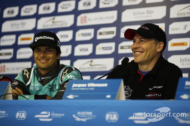 Nelson Piquet Jr., NEXTEV TCR Formula E Team and Jacques Villeneuve, Venturi