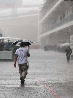 Fuertes lluvias retrasan el inicio de FP2
