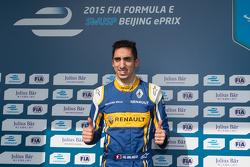 Polesitter Sébastien Buemi, Renault e.Dams