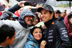 Sergio Perez, Sahara Force India F1 con los fans