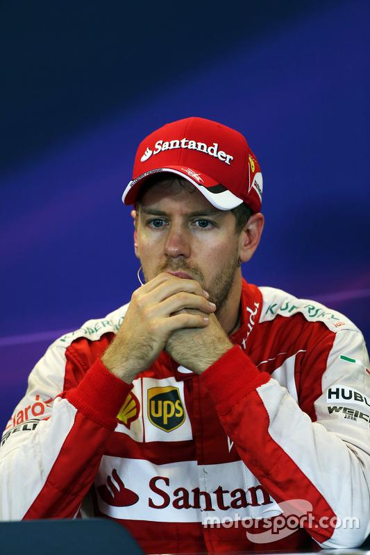 Sebastian Vettel, Ferrari in de FIA persconferentie