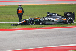 Nico Hulkenberg, Sahara Force India F1 VJM08 retired from the race