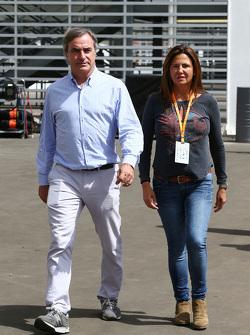 Carlos Sainz, met vrouw Reyes Vazquez de Castro