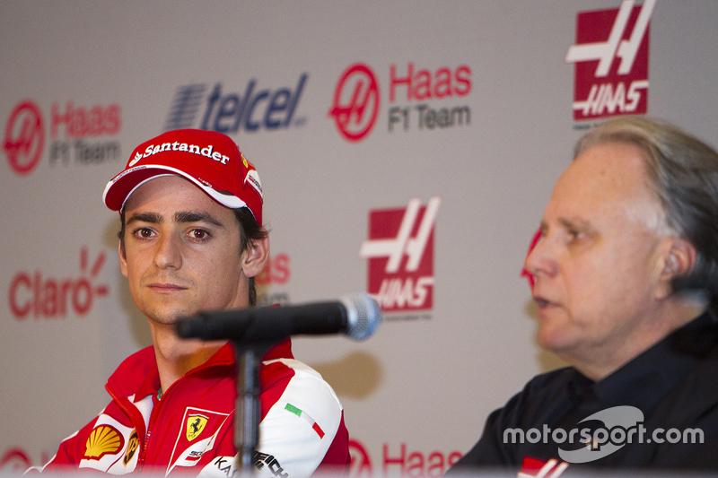 Esteban Gutiérrez Haas Team y Gene Haas Dueño del Equipo