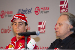 Esteban Gutiérrez, Team Haas and Gene Haas, owner of the team
