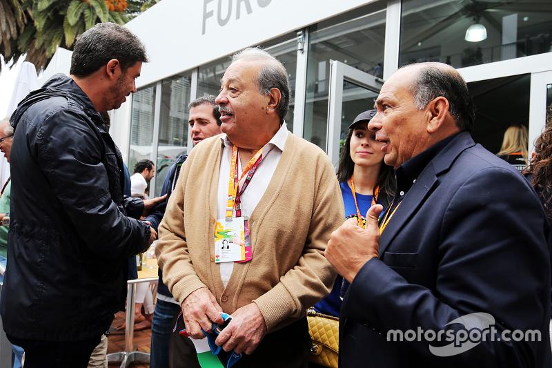 كارلوس سليم، رجل أعمال مع أنطونيو بيريز، والد سيرجيو بيريز، فورس إنديا