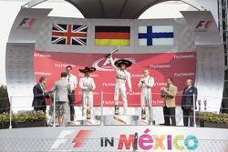Podium: Winner, Nico Rosberg, Mercedes AMG F1, Second place, Lewis Hamilton Mercedes AMG F1 and the third place, Valtteri Bottas Williams F1 Team