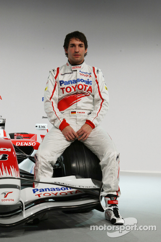 Timo Glock poses with the new Toyota TF108