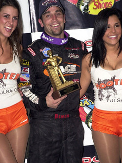 Damion Gardner captured the coveted Golden Driller trophy by winning the 50-lap championship feature event
