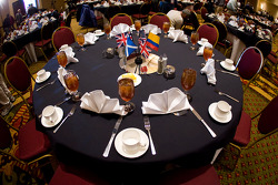 Chip Ganassi Racing with Felix Sabates: tables ready for the guests