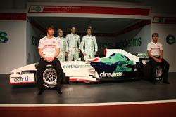 Mike Conway, Test Driver, Honda Racing F1 Team, Rubens Barrichello, Honda Racing F1 Team, Alexander Wurz, Test Driver, Honda Racing F1 Team, Jenson Button, Honda Racing F1 Team, Luca Filippi, Honda Racing F1 Team