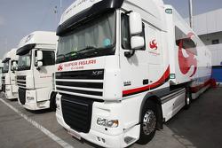 Super Aguri F1 Team trucks