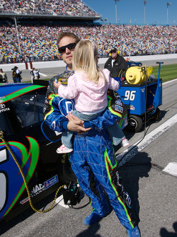 J.J. Yeley with his daughter