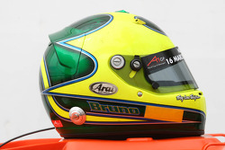 Bruno Junqueira, driver of A1 Team Brazil helmet