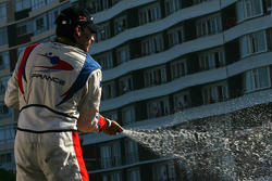 Loic Duval, driver of A1 Team France podium