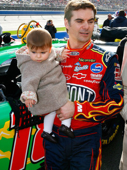 Jeff Gordon and his daughter Ella Sophia
