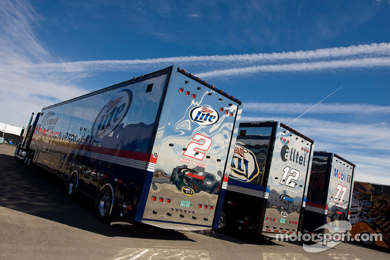 The Team Penske Team Haulers Makes Its Way Into The Las