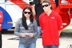 Danica Patrick and Marco Andretti
