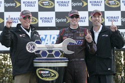 Victory lane: race winner Kyle Busch with Joe Gibbs