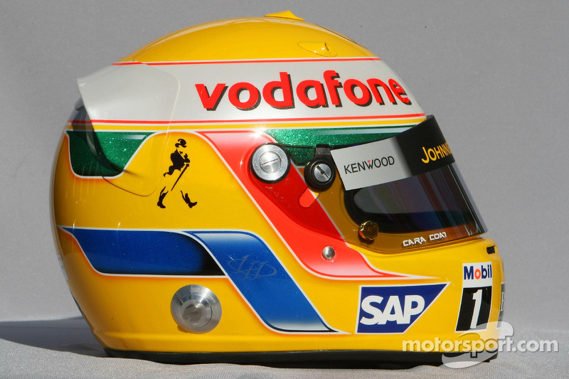 casque de lewis hamilton mclaren mercedes grand prix d 39 australie photos formule 1. Black Bedroom Furniture Sets. Home Design Ideas