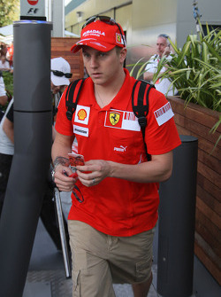 Kimi Raikkonen, Scuderia Ferrari leaving the track